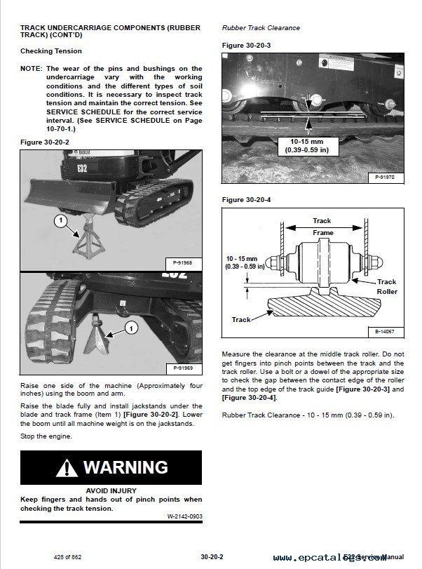 Bobcat E32 Compact Excavator Service Manual PDF