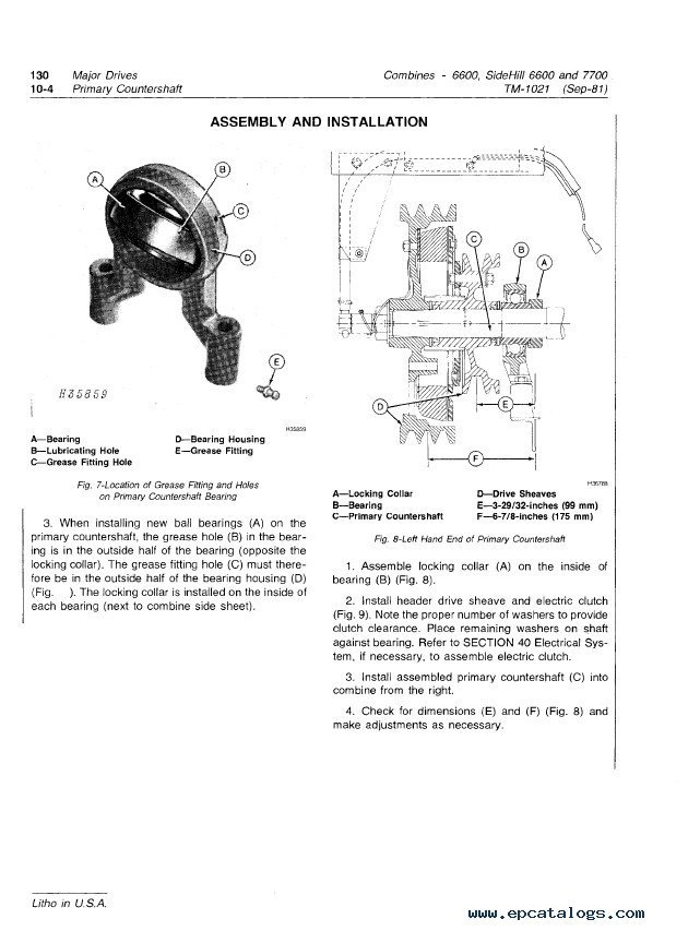 John Deere Side Hill 6600 Amp 7700 Combines Pdf Manual