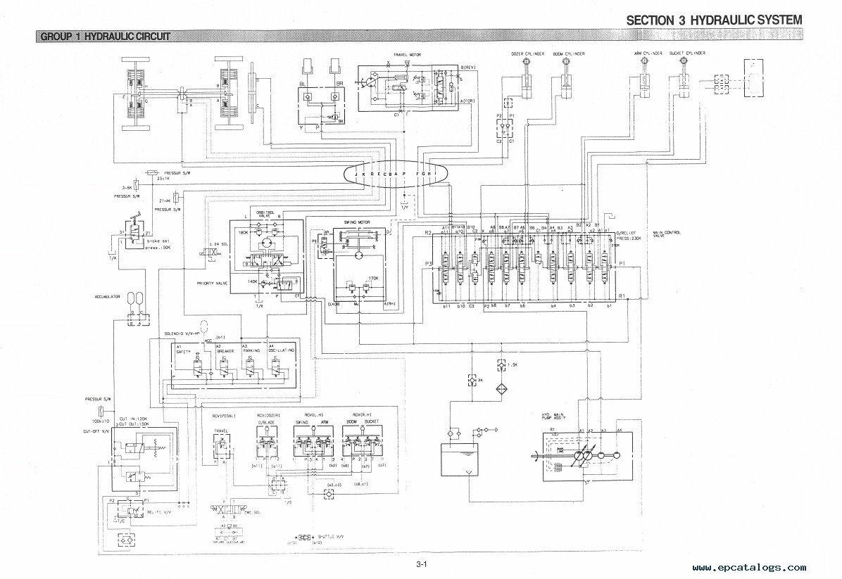 repair manual Hyundai R55W-3 Wheel Excavator Service Manual - 3