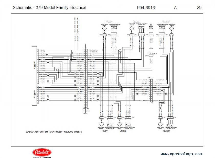 peterbilt truck 379 model family electrical schematic manual pdf repair manual trucks buses