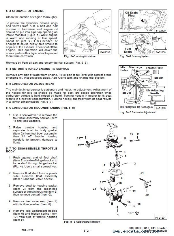 Bobcat 600, 600D, 610, 611 Skid Steer Loaders Service Manual PDF