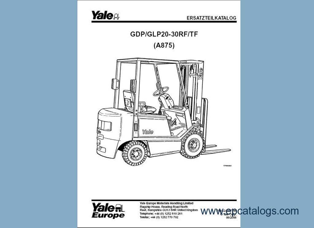 Download Yale Forklift Trucks Parts Manuals Pdf