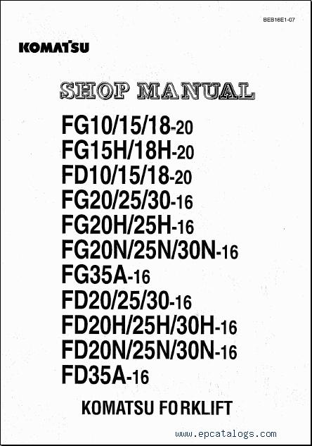 komatsu forklift 2009 rh epcatalogs com Komatsu 25 Forklift Oil-Type Komatsu 25 Forklift Specs