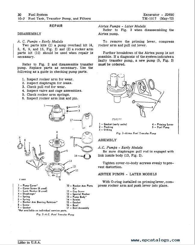 John Deere 690 690a Excavator Tm1017 Technical Manual