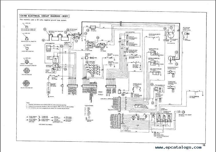 hitachi ex700 excavator service  u0026 parts  u0026 operator u2019s pdf