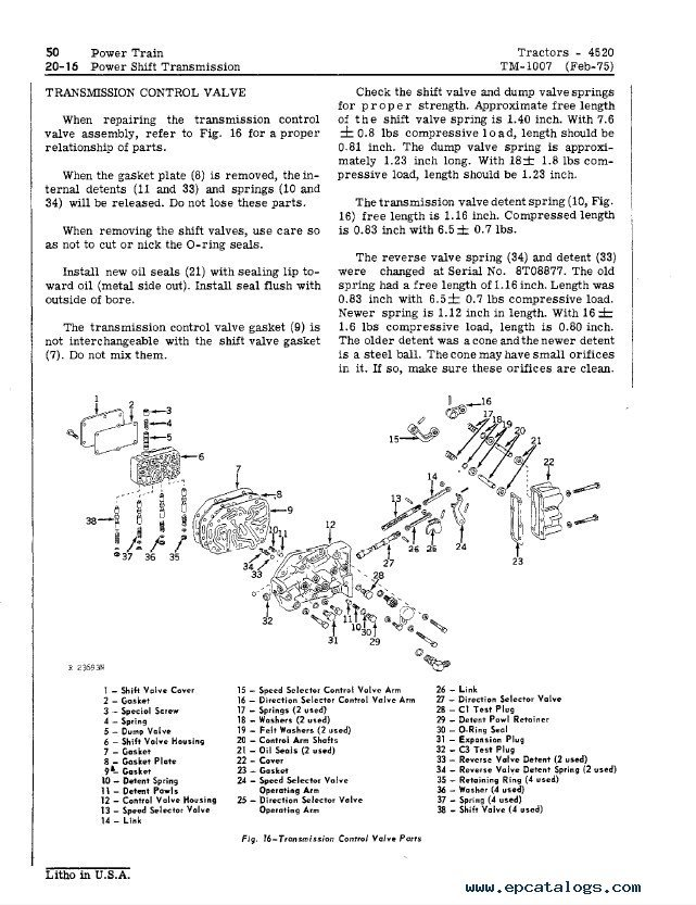 John Deere 4520 Tractors TM1007 Technical Manual PDF