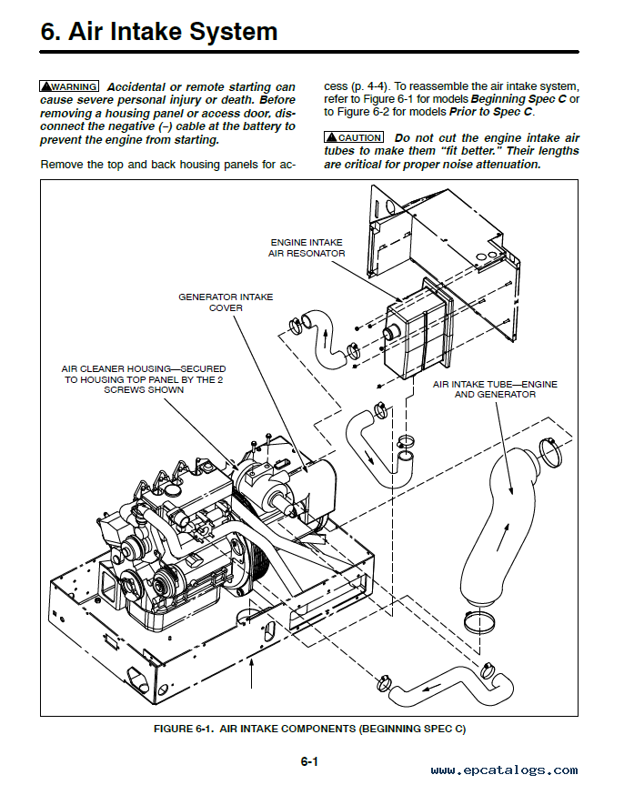 Cummins Onan HDCAA/AB/AC/AD (Spec A-D) Generator Set DownloadEPCATALOGS