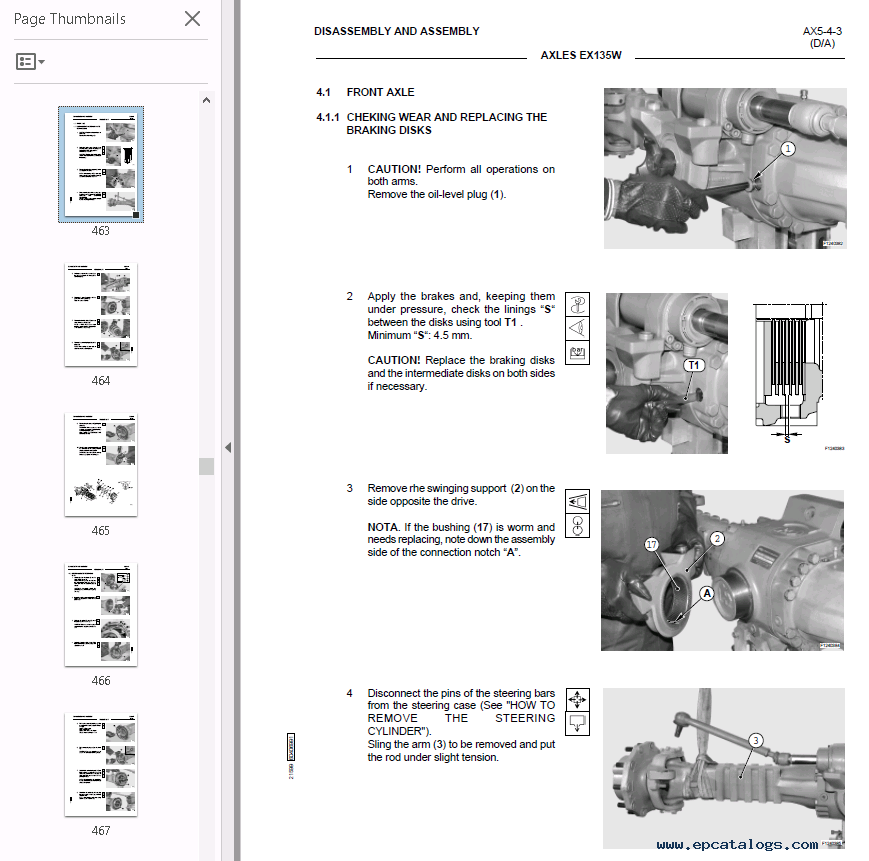 Fiat Hitachi Excavators EX135W PDF Workshop Manual Download