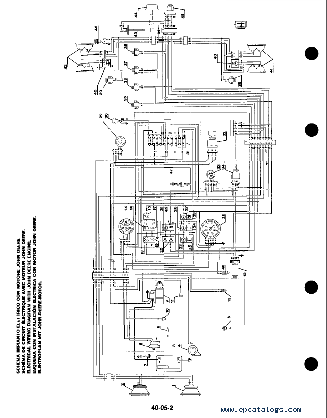 john deere 1445 mower wiring diagram