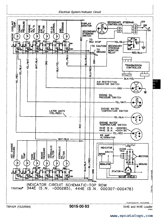 John Deere 344e 444e Loader Operation Test Tm1421 Pdf