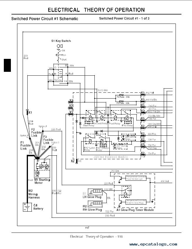 john deere gx355 garden tractor tm1974 technical manual rh epcatalogs com John Deere Gator Wiring-Diagram John Deere Tractor Wiring Diagrams