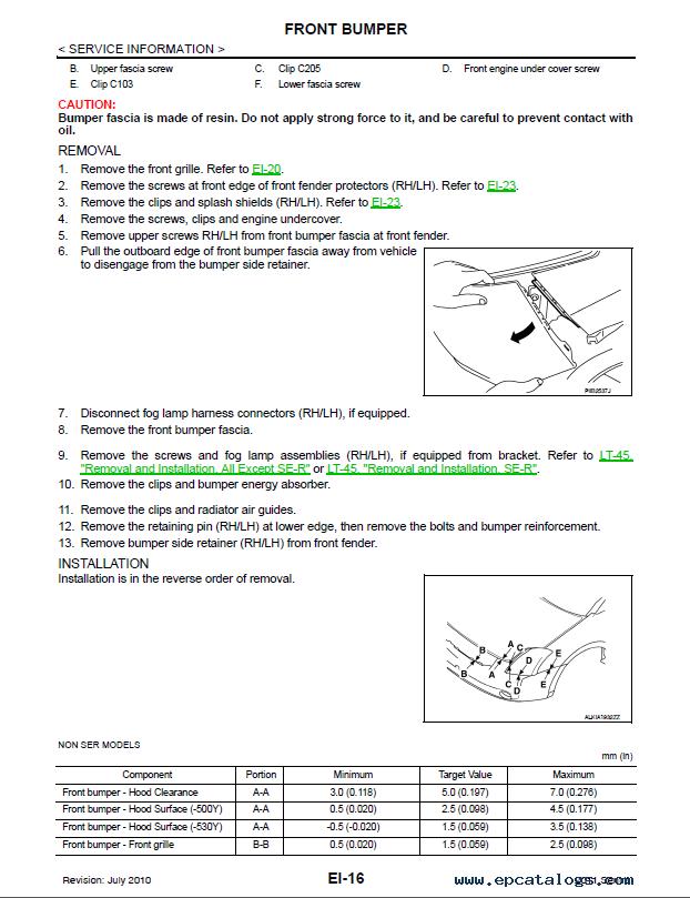 Nissan Sentra Model B16 Series 2011 Service Manual PDF