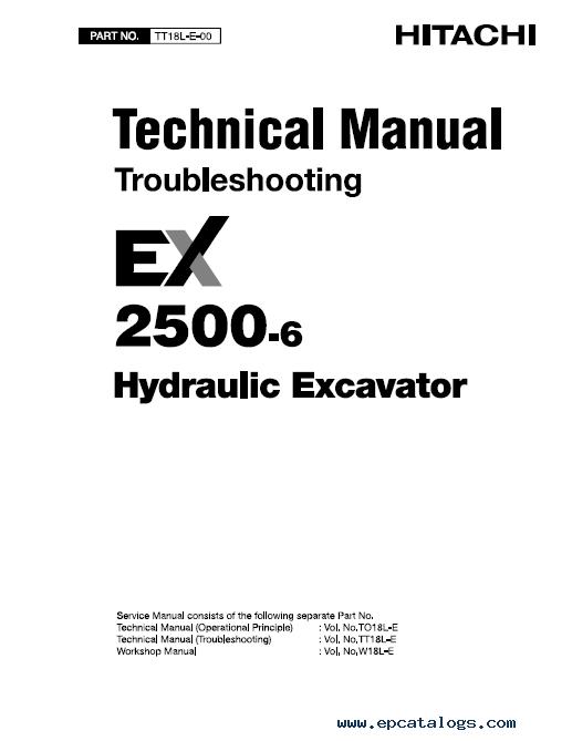 hitachi ex2500 6 excavator service repair workshop manual rh epcatalogs com Makers Service Repair Manual Factory Service Repair Manual