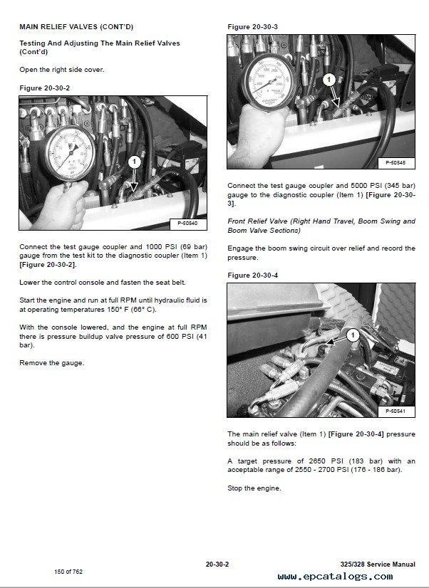 Bobcat 325/328 Compact Excavator Service Manual PDF