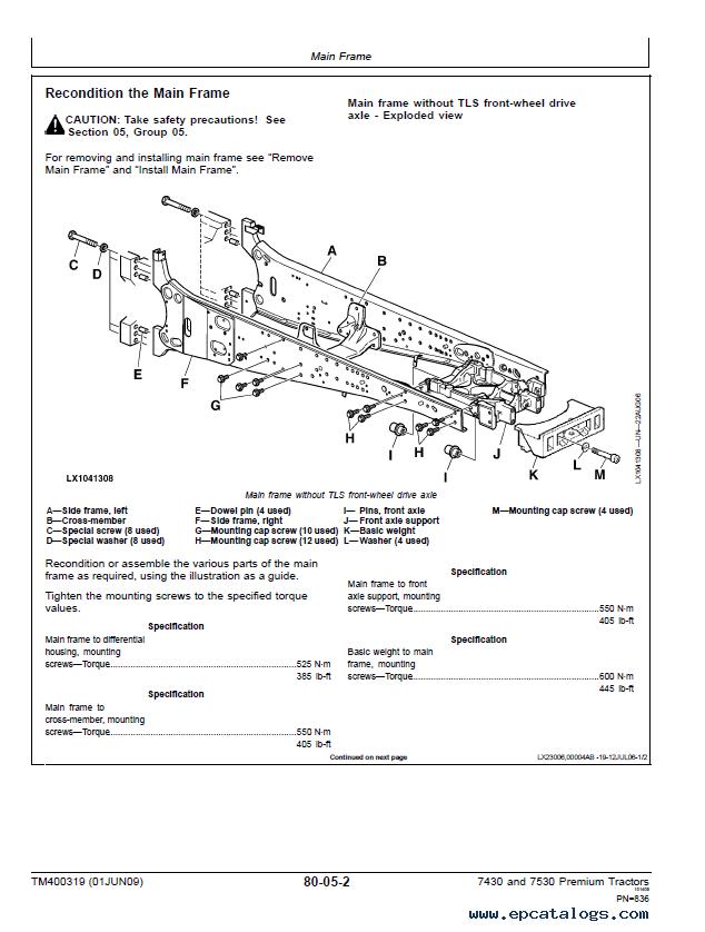 john deere 7530 premium service manual