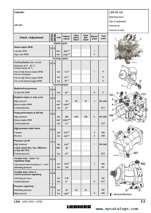 Liebherr L524 L534 L538 Wheel Loader Service Manual Pdf
