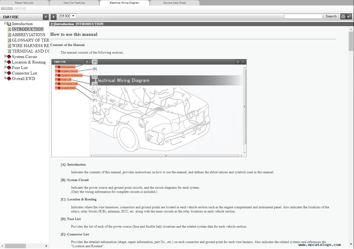 toyota wiring diagram 2014 corolla toyota avensis petrol azt270 zrt270 271 272 repair manual