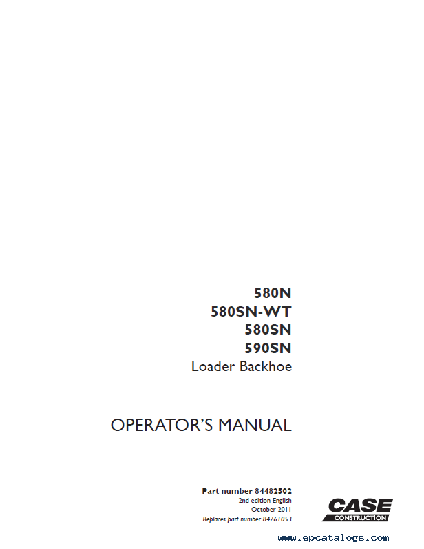 case 580 backhoe manual pdf