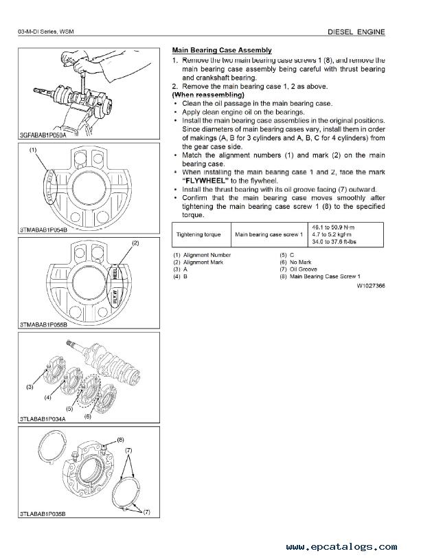 kubota 03 m series diesel engine service workshop manual
