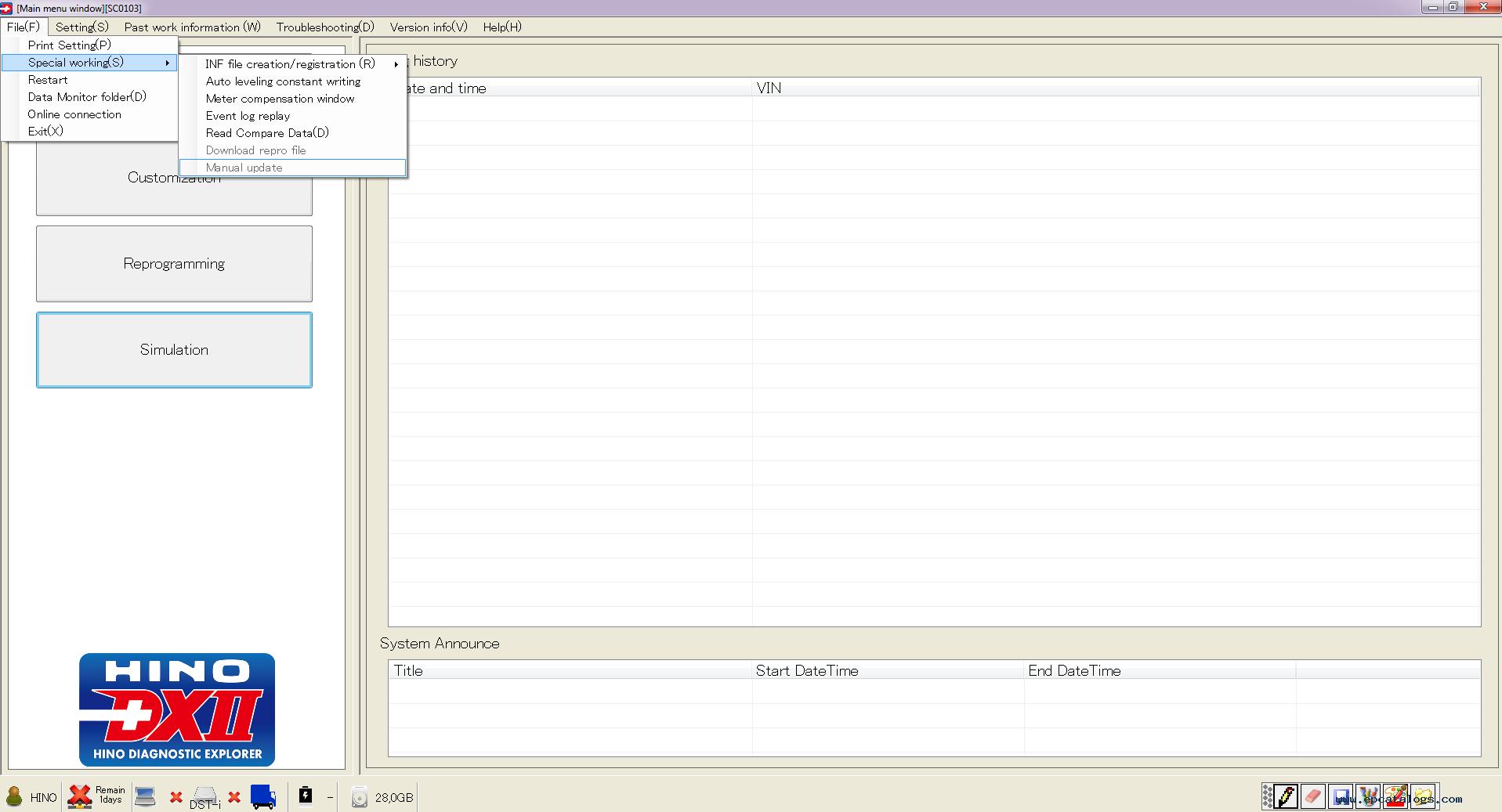 Hino Diagnostic eXplorer II - Hino DX2 1 1 19 9 + Database v2 1 19