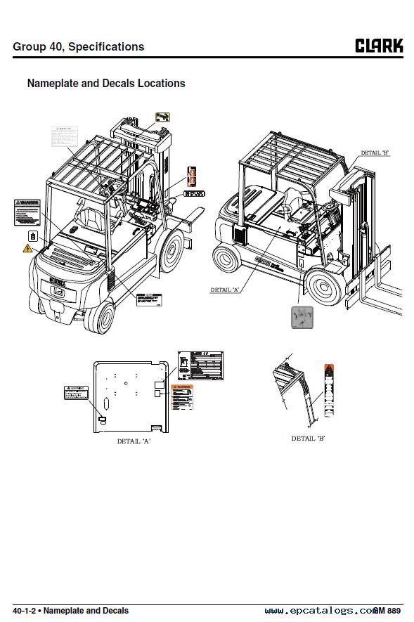 Clark Forklift Gex 40  45  50 Pdf Service Manual Download