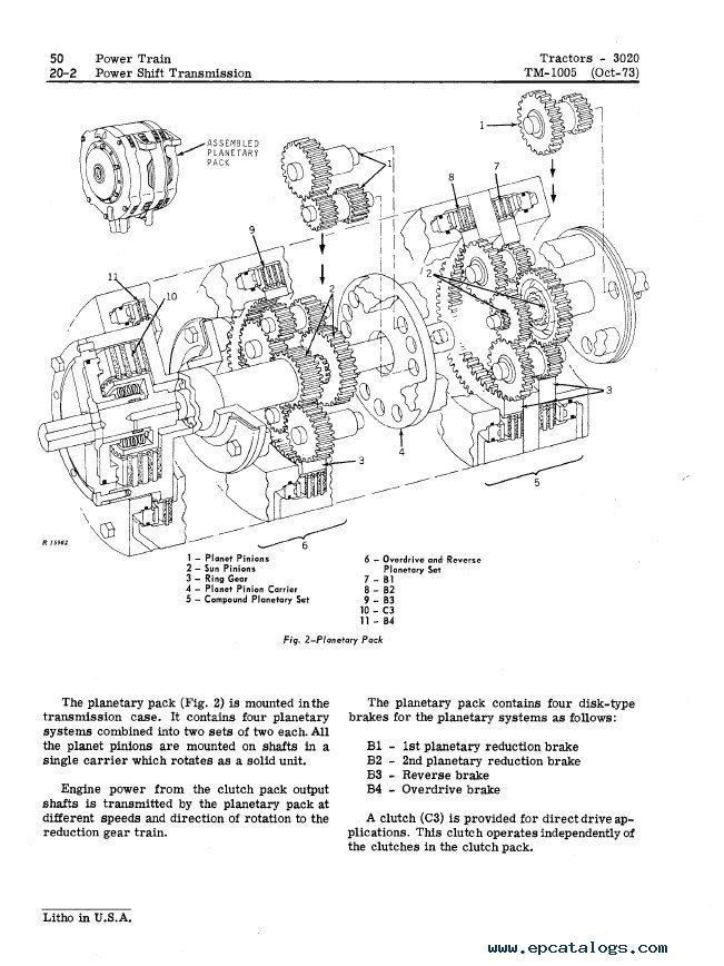 John Deere 3020 Tractor Tm1005 Technical Manual Pdf