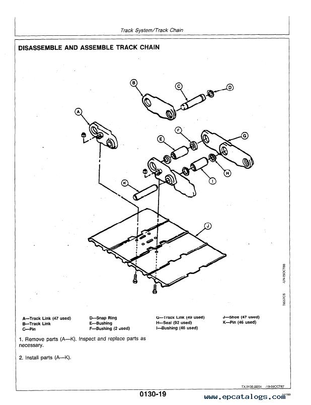 John Deere 70d Excavator Repair Tm1408 Technical Manual