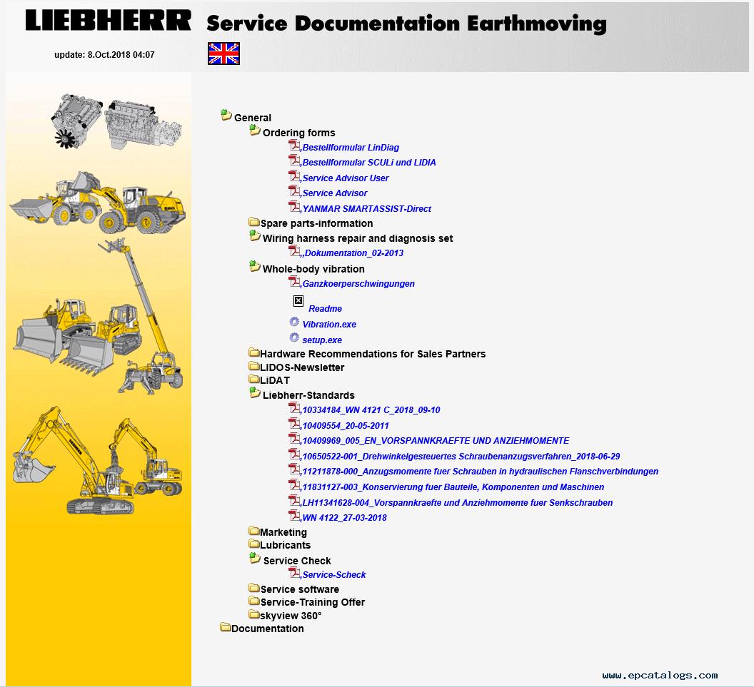Liebherr Lidos Offline 07/2019 LWT+LHB+LFR+LBH Parts Catalog