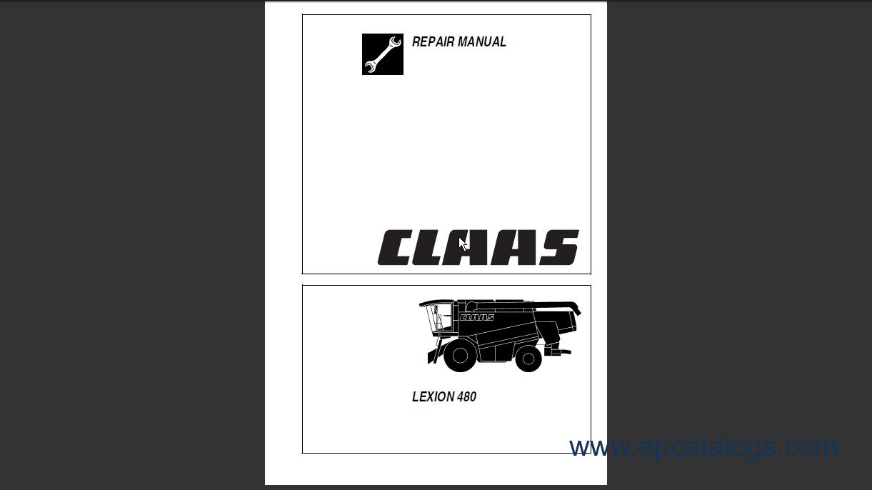 Claas Lexion 480 Repair Manual Download