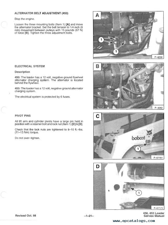 bobcat 450 453 skid steer loader service manual pdf metric system diagram