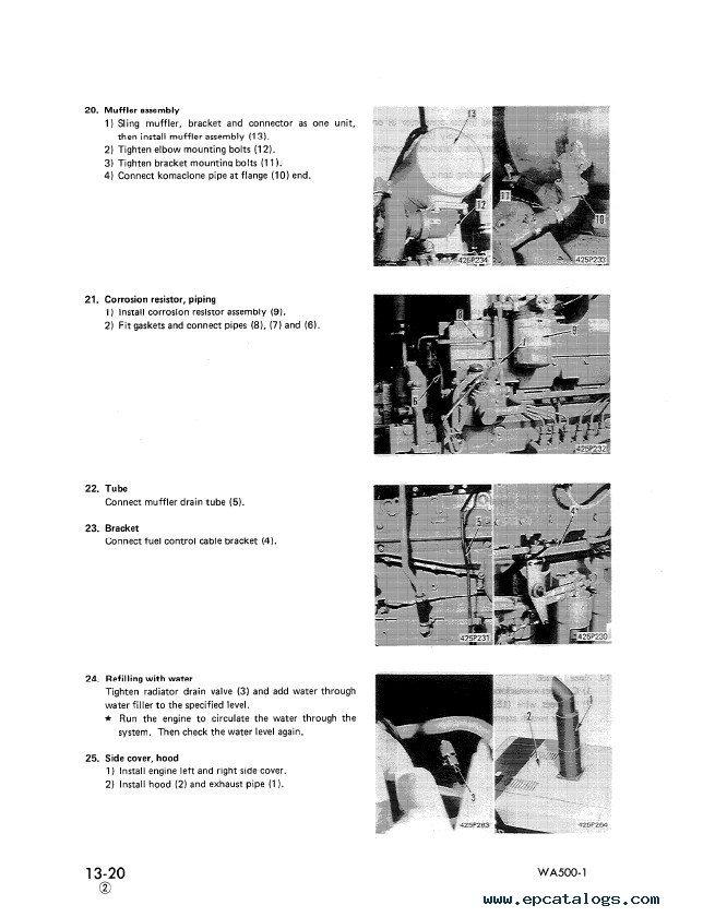 Komatsu Wa500 6 parts Manual