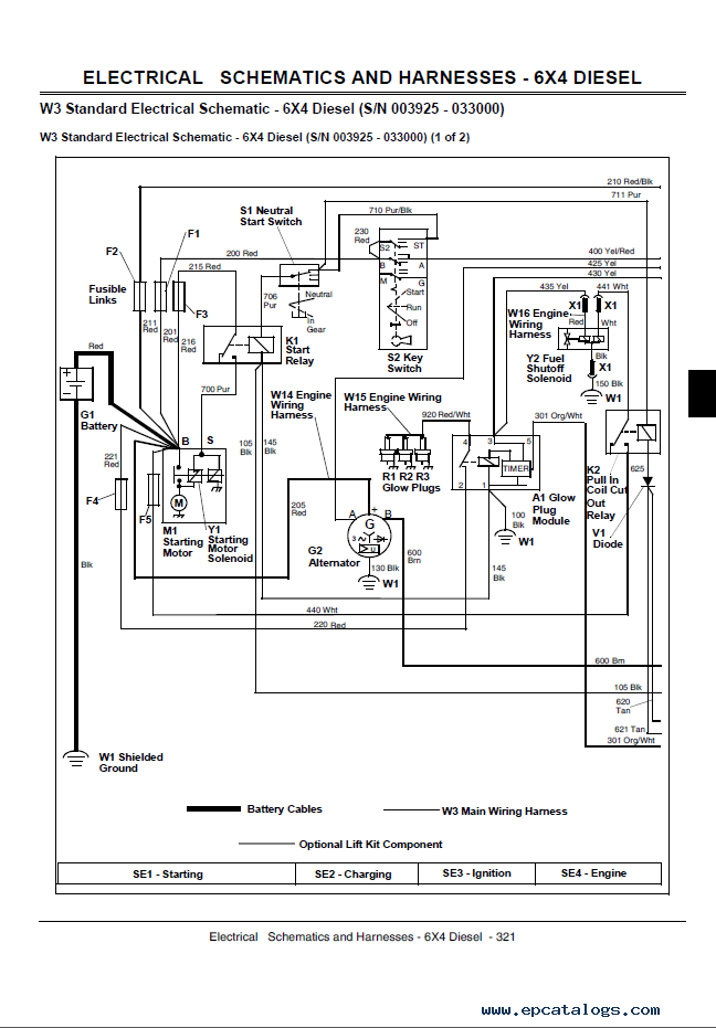 john deere gator utility vehicles 4x2 and 4x6 technical manual tm 1518 wiring diagram for john deere gator 4x2 readingrat net john deere 400 wiring diagram at bayanpartner.co