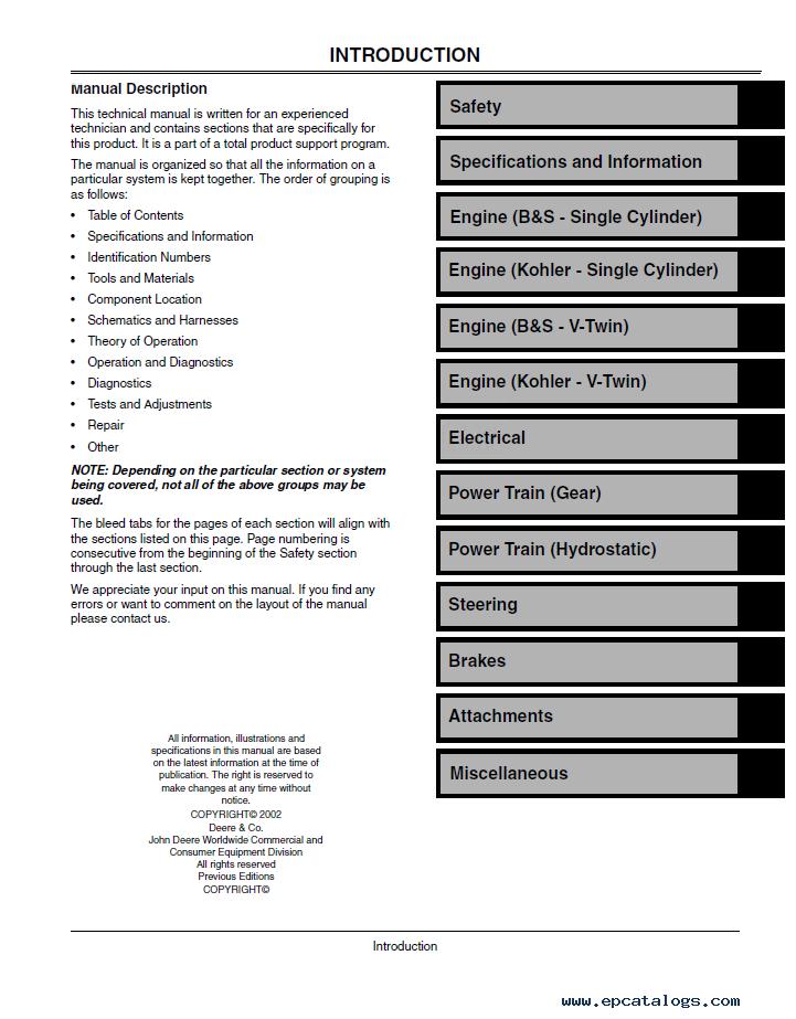john deere l100 l110 l120 l130 lawn tractors repair manual pdf rh epcatalogs com john deere l130 manuals free downloads john deere l130 manual download