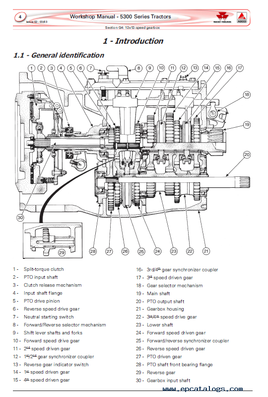 Massey Ferguson MF 5300 Series Tractors Service Manual PDF