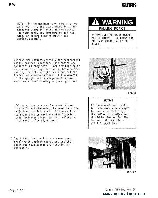 clark tm 12 25 36volt ev 100 supplement sm555 pdf manual rh epcatalogs com Upright Tm12 Wiring-Diagram Snorkel Lift Dealers