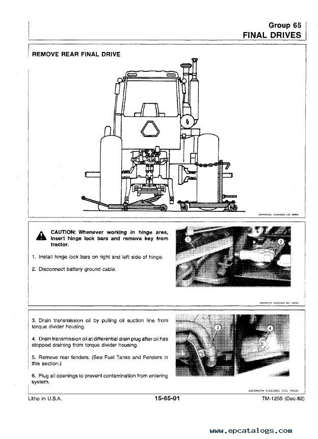 john deere 8450 8650 tractors tm1355 technical manual pdf rh epcatalogs com john deere 850 manual free john deere 850 manual pdf