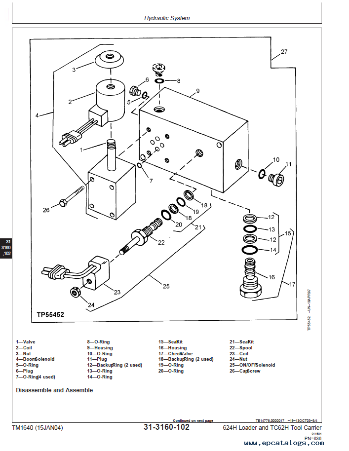 john deere 624h loader  u0026 tc62h tool carrier pdf manual