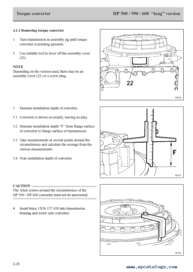 ZF Ecomat Transmission HP 500/HP590/HP600 Repair Manual Long Version