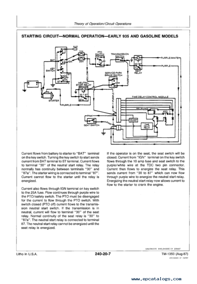 Wiring Diagram John Deere F935 : John deere f front mowers technical manual