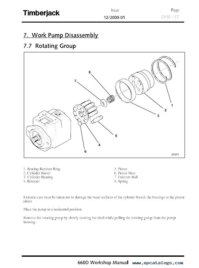 205 timberjack skidder Repair manual