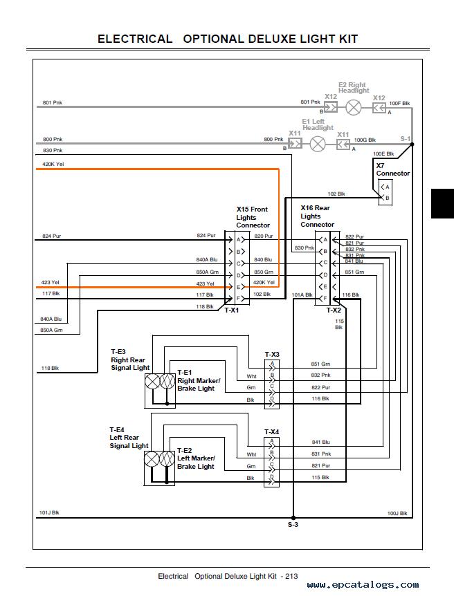 John Deere Gator Utility Vehicle Xuv 850d Technical Manual
