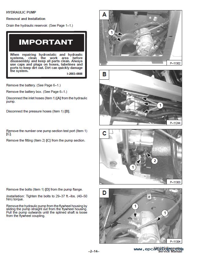 Bobcat 322 repair Manual