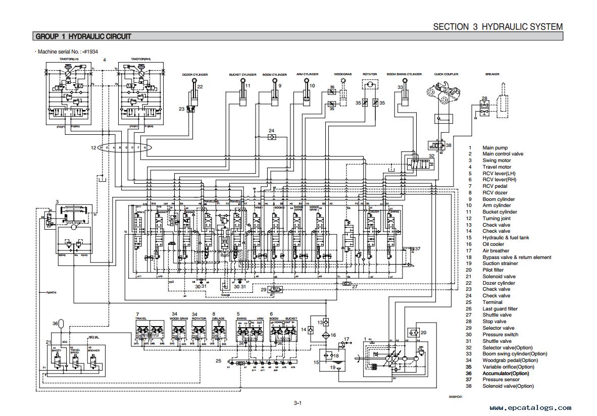 repair manual Hyundai R55-9 Crawler Excavator Service Manual - 3