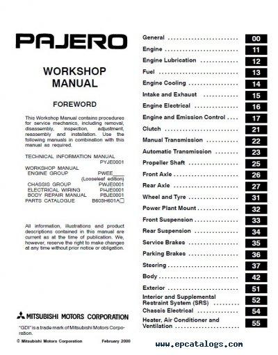 Mitsubishi Pajero Clutch Wiring Diagram