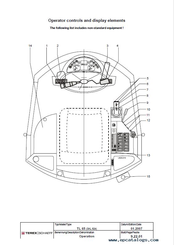 Terex Tl Tw Tc Skl Loaders Excavators Service Manual Pdf