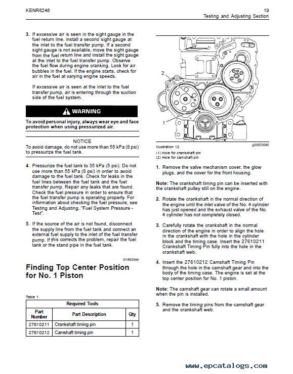Perkins 1104D (Mech) Engine Systems Operation Testing Adjusting +  Disassembly Assembly Manuals PDF