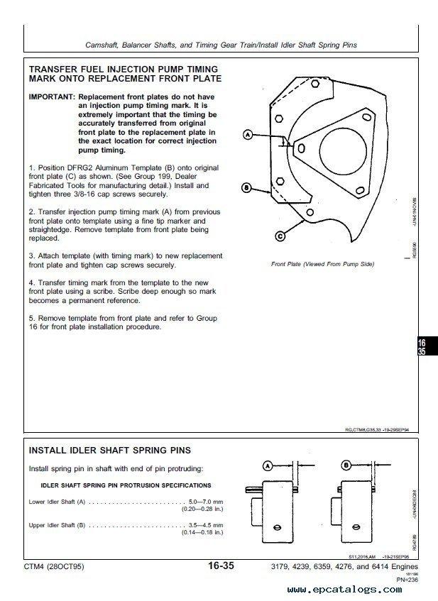 john deere series 300 3179 4239 6359 4276 6414 engine pdf rh epcatalogs com john deere 4239 service manual John Deere 4520