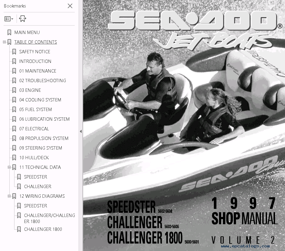 Sea Doo Jet Boat Challenger 1800 Repair Manual Download