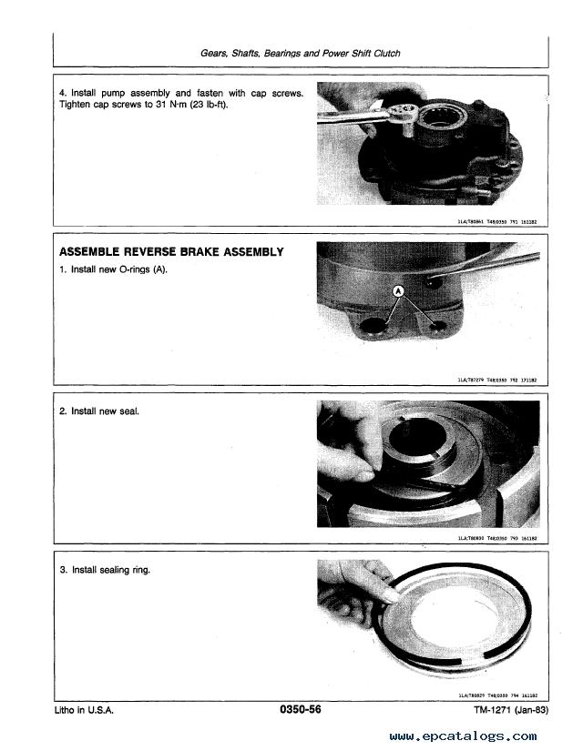 John Deere 401d Tractor Tm1271 Technical Manual Pdf