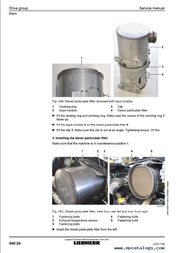 Liebherr L 576 1169 Wheel Loader Service Manual Pdf